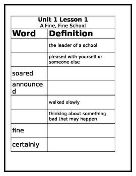3rd Grade Journey's Vocabulary Worksheet Lesson 1