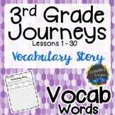3rd Grade Journeys Vocabulary - Writing Activity LESSONS 1-30