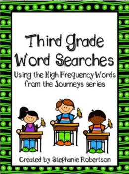 3rd Grade Word Searches with Target Vocabulary from the 2011 Journeys series