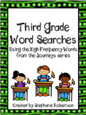 3rd Grade Word Searches with Target Vocabulary from the 20