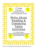3rd Grade Journey's Write About Reading & Comparing Texts Activities Unit 3