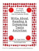 3rd Grade Journey's Write About Reading & Comparing Texts Activities Unit 4
