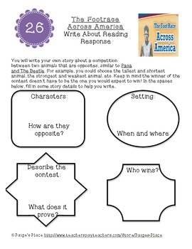 3rd Grade Journey's Write About Reading & Comparing Texts Activities Unit 6