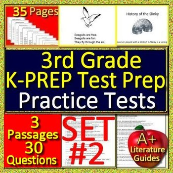 3rd Grade K-PREP Test Prep Practice Tests #2 - for Kentucky State Test