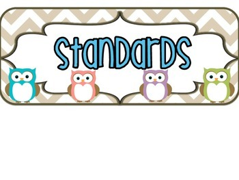 3rd Grade KANSAS Owl Standards