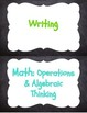 3rd Grade Kid-Friendly I Can Statements-- Reading, Writing, and Math