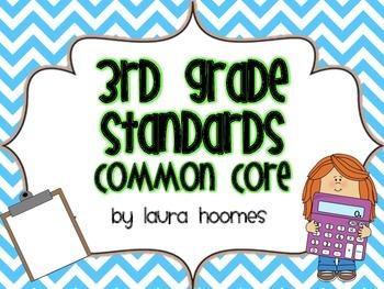 3rd Grade Kid Standards COMMON CORE