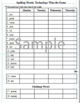 3rd Grade: L-11 Technology Wins the Game Journeys Common Core Spelling Worksheet