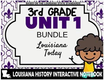 3rd Grade - LA History - Unit 1 Bundle - Louisiana Today
