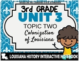 3rd Grade - LA History - Unit 3 - Topic 2 - Colonization of Louisiana