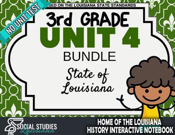 3rd Grade - LA History - Unit 4 Bundle without Unit Test
