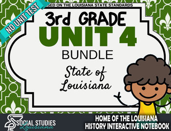 3rd Grade - LA History - Unit 4 Bundle with Unit Test