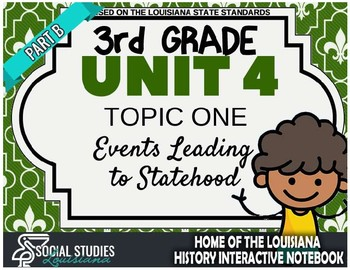 3rd Grade - LA History - Unit 4 - Topic 1 - Part B: Events Leading to Statehood