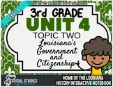 3rd Grade - LA History - Unit 4 - Topic 2 - Part A: Louisiana's Government
