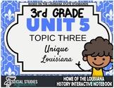 3rd Grade - LA History - Unit 5 - Topic 3 - Unique Louisiana