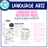 3rd Grade LA Notebook Pages