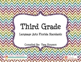 3rd Grade LAFS Language Arts Florida Standards Checklist w