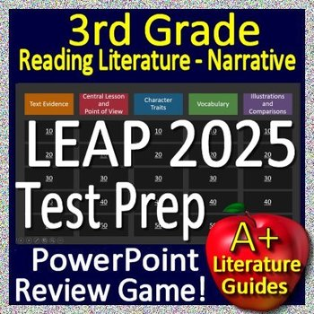 3rd Grade LEAP 2025 Test Prep ELA Reading Literature and ...