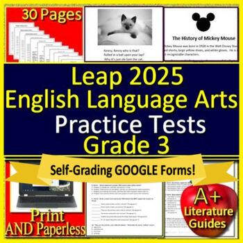 3rd Grade LEAP 2025 Test Prep -  Practice Tests - English Language Arts