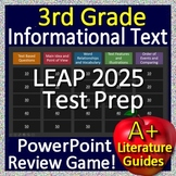 3rd Grade LEAP 2025 Test Prep Reading Informational and Non-Fiction Review Game