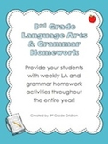 3rd Grade Lang. Arts & Grammar Homework Pack (Activities for the Entire Year!)