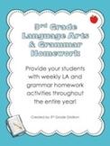 3rd Grade Lang. Arts & Grammar Homework Pack (Activities f