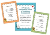 3rd Grade Lang. Arts & Spelling Homework Pack (Activities for the Entire Year!)