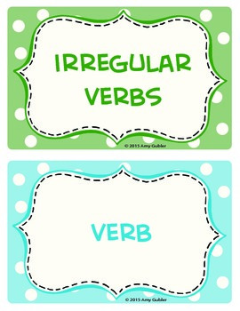 3rd Grade Language Arts Cards