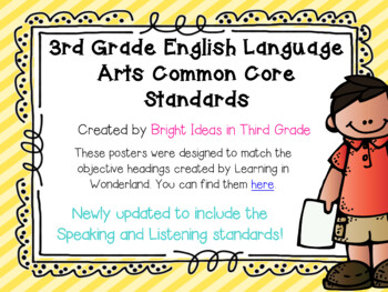 3rd Grade Language Arts Common Core Objectives {Melonheadz Edition}