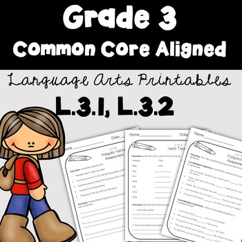 3rd Grade Language Arts Printables and Assessments -Common Core Aligned
