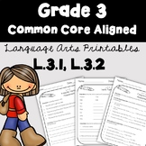 3rd Grade Language Arts Printables and Assessments -Common