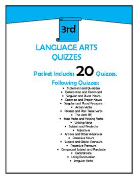 3rd Grade Language Arts Quizzes