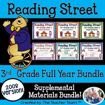 Reading Street 3rd Grade Unit 1 -  Unit 6 Printables Bundle | 2008