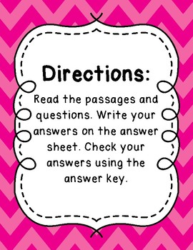 3rd Grade Language Arts Test Prep IREAD Task Cards Set 5