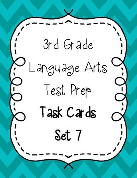3rd Grade Language Arts Test Prep IREAD Task Cards Set 7