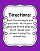 3rd Grade Language Arts Test Prep IREAD Task Cards Set 8