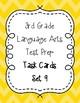 3rd Grade Language Arts Test Prep IREAD Task Cards Set 9