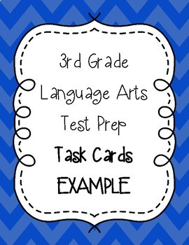 3rd Grade Language Arts Test Prep IREAD Task Cards Sets 1 to 10 BUNDLE