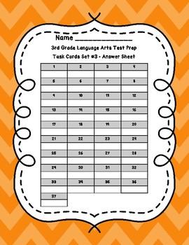3rd Grade Language Arts Test Prep Set 3