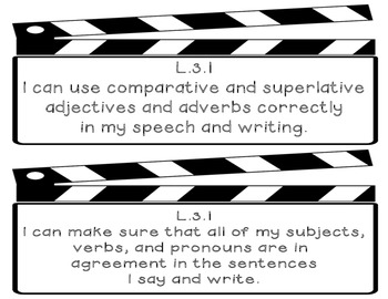 3rd Grade Language Common Core I Can posters
