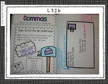 3rd Grade Language Interactive Notebook (Common Core aligned)