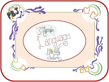 3rd Grade Language Packet