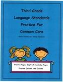 3rd Grade Language Practice/Depth of Knowledge L3.3a L3.3b Unit 11