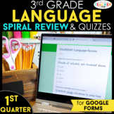 3rd Grade Language Spiral Review Google Classroom Distance