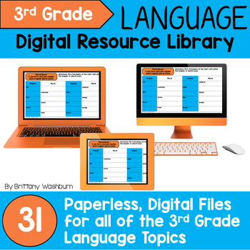 3rd Grade Language Standards Digital Resource Library