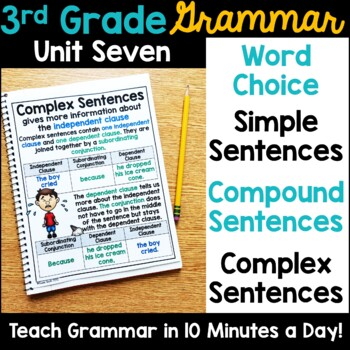 3rd Grade Language Unit Seven {aligns to L.3.3.A, L.3.1.I}