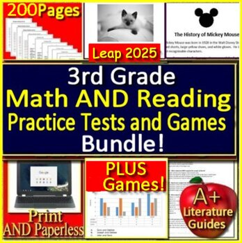 3rd Grade Leap 2025 Reading and Math Practice Tests and ...
