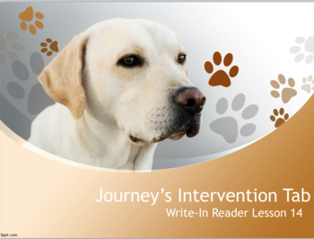3rd Grade Lesson 14 Intervention Tab-Day 1 Write In Reader for Journey's