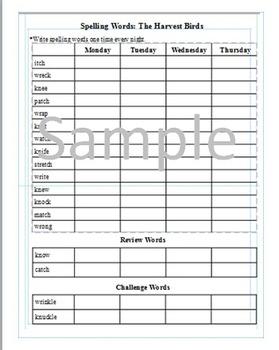3rd Grade: Lesson 8  Journeys Common Core Spelling Words Worksheet