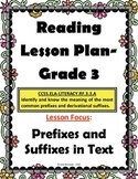 3rd Grade Lesson Plan: Prefixes and Suffixes